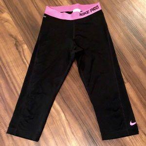 Nike Black and pink below the knee drops fit